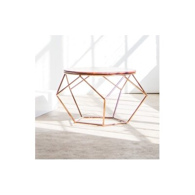 Alix Coffee Table Base Finish: Rose Gold