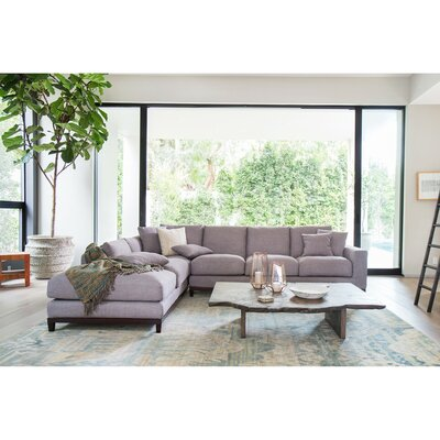 Kellan Sectional Upholstery: Light gray, Orientation: Left Hand Facing
