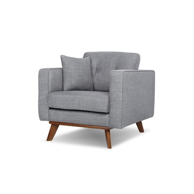 Frey Armchair Upholstery: Gray Tweed