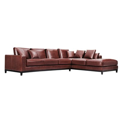 Kellan Leather Sectional Orientation: Right Hand Facing