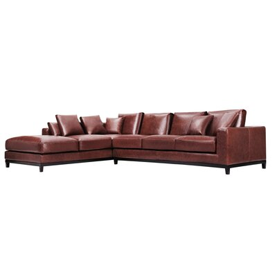 Kellan Leather Sectional Orientation: Left Hand Facing