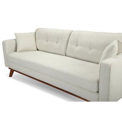 Frey Sofa Upholstery: White Linen