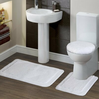 Soft 3 Piece Bath Rug Set