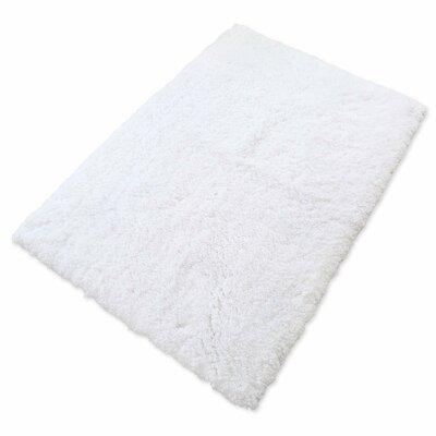 Soft Shaggy Non-Slip Bath Rug Color: White, Size: 32 W x 47 L