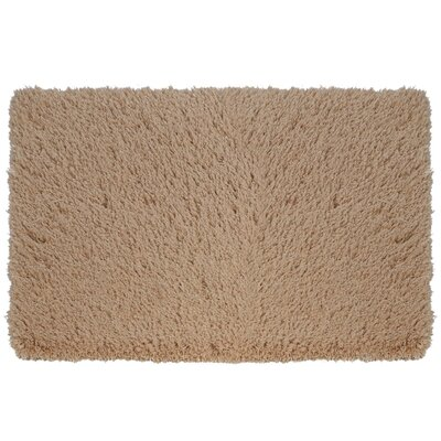 Soft Shaggy Non-Slip Bath Rug Size: 32 W x 47 L, Color: Khaki