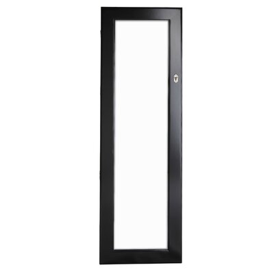 Lauder Over The Door/Wall Mounted Jewelry Armoire with Mirror Finish: Black