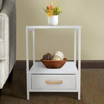 Alphin 2-tier Square End Table with Storage