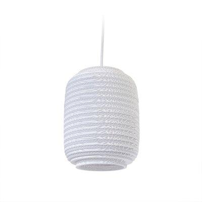 Scraplight Ausi 1-Light Drum Pendant Size: 9.5 H x 7.5 W x 7.5 D