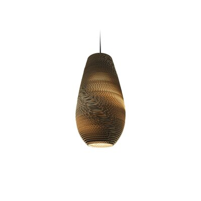 Scraplight Drop 1-Light Mini Pendant Size: 18 H x 10 W x 10 D