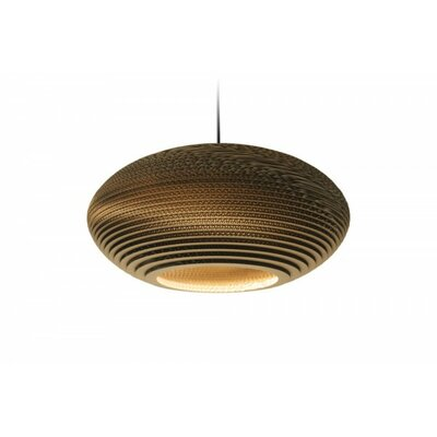 Scraplight Disc 1-Light Drum Pendant Size: 9 H x 20 W x 20 D