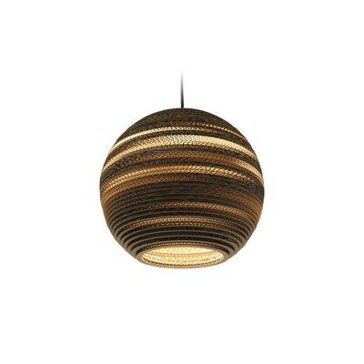 Scraplight Moon 1-Light Globe Pendant Size: 12 H x 14 W x 14 D