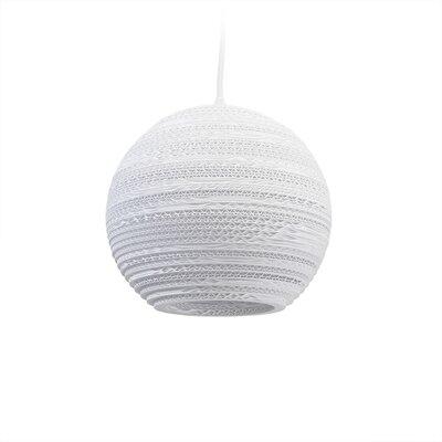 Scraplight Moon 1-Light Globe Pendant Size: 8.5 H x 10 W x 10 D
