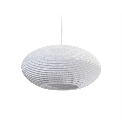 Scraplight Disc 1-Light Drum Pendant Size: 7.5 H x 16.5 W x 16.5 D