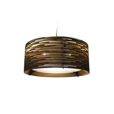 Scraplight 3-Light Drum Pendant Size: 9.5 H x 24 W x 24 D