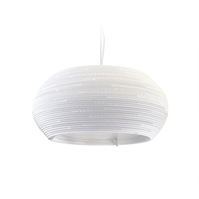 Scraplight Ohio 1-Light Drum Pendant Size: 10 H x 24 W x 24 D