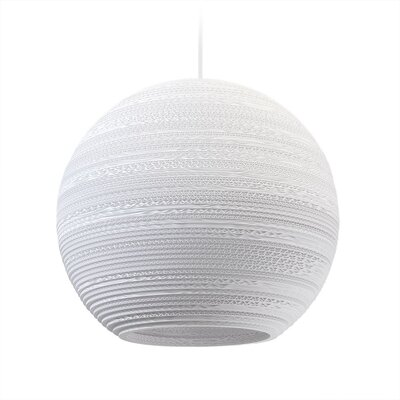 Scraplight Moon 1-Light Globe Pendant Size: 15.5 H x 18 W x 18 D
