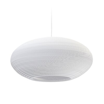 Scraplight Disc 1-Light Drum Pendant Size: 10.5 H x 24 W x 24 D