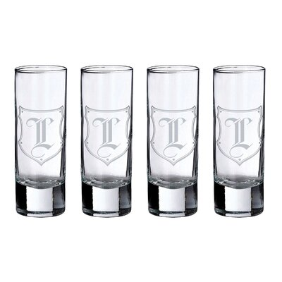 Monogram Shot Glass Alphabet Letter: L G152 L