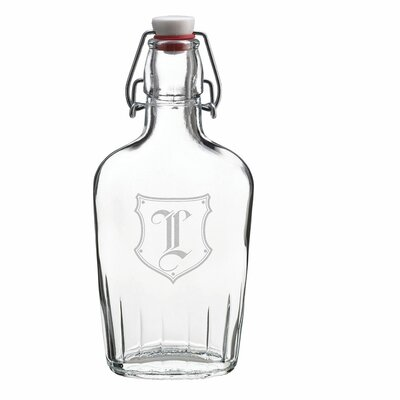 Monogram Glass Flask Alphabet Letter: L B101 L