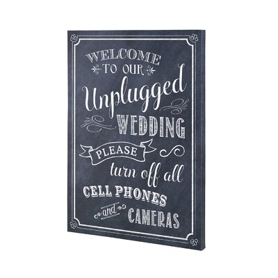 Unplugged Wedding Sign