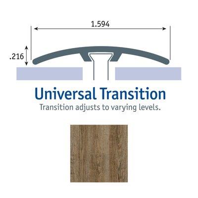 0.25 x 1.75 x 94 Oak Universal Transition in Roan