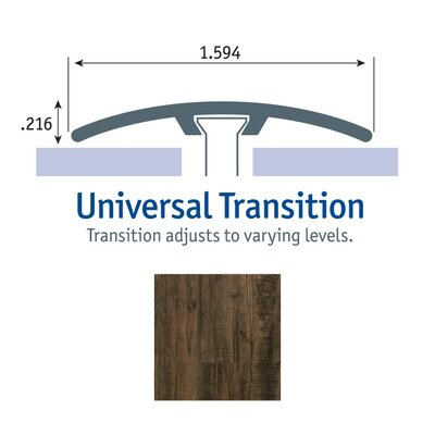0.25 x 1.75 x 94 Pine Universal Transition in Black and Tan