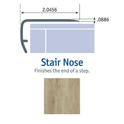 1.13 x 2.13 x 94  Stair Nose in Bay