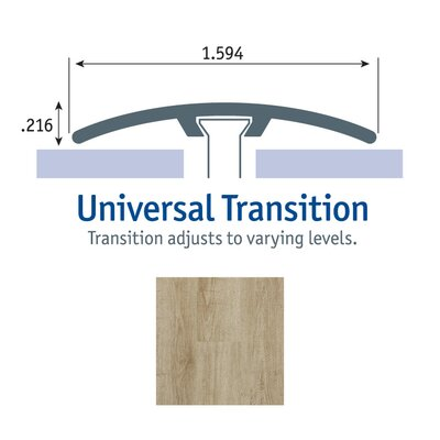 0.25 x 1.75 x 94 Cooper Oak Universal Transition in Bay