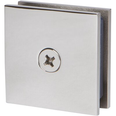 Square Wall Mount Glass Clamp Finish: Polished Chrome