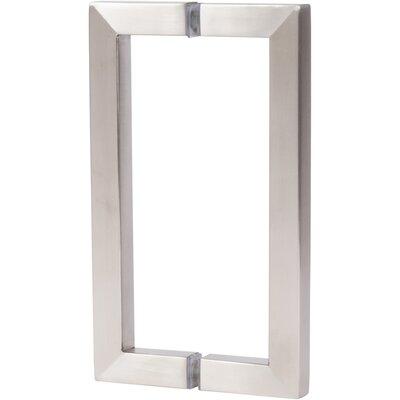 Shower Door Pull Finish: Brushed Nickel