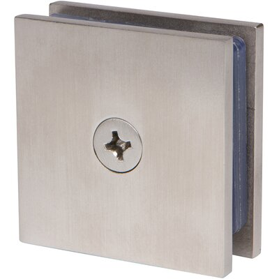 Square Wall Mount Glass Clamp Finish: Brushed Nickel