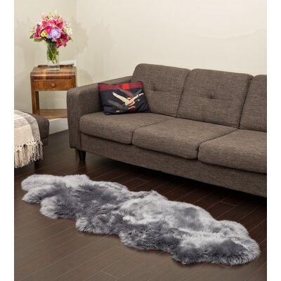 Rossie Double New Zealand Hand-Woven Grey Indoor/Outdoor Area Rug EYQN3789 40863180