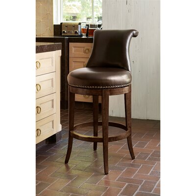 Swivel Bar Stool Size: 43 H x 21 W x 26 D