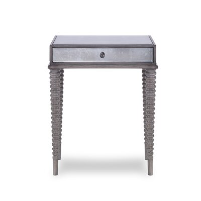 Axis Mirrored End Table Color : Gray