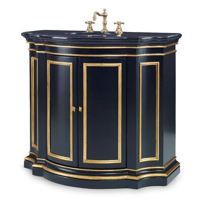 Conference 40 Single Bathroom Vanity Base Finish: Black