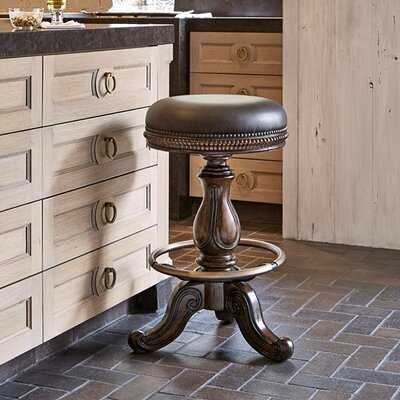 Davis Swivel Bar Stool Size: 24 H x 20 W x 20 D