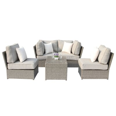 Chelsea 5 Piece Deep Seating Group with Cushion CM-4205