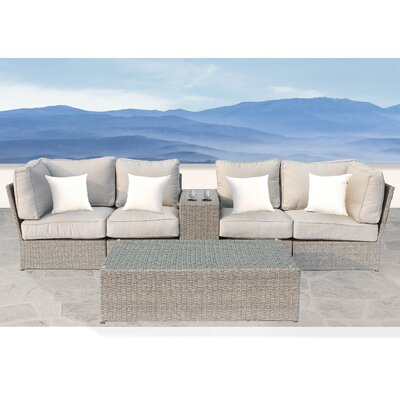 Winsford Cup Table 6 Piece Sofa Set with Cushions