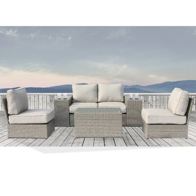 Winsford Cup Table 7 Piece Conversation Set with Cushions