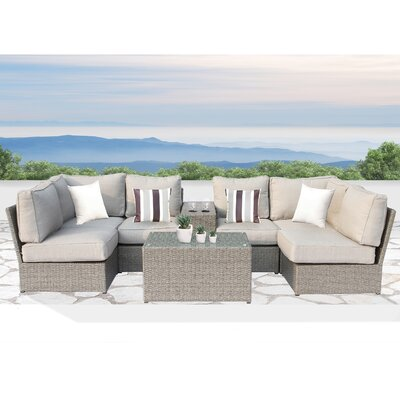 Winsford Cup Table 8 Piece Sectional Set with Cushions