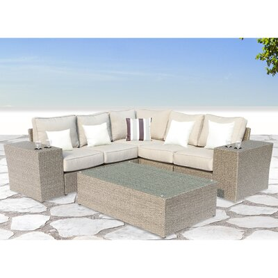 Winsford Cup Table 8 Piece Sectional Set with Ultrasoft Cushions