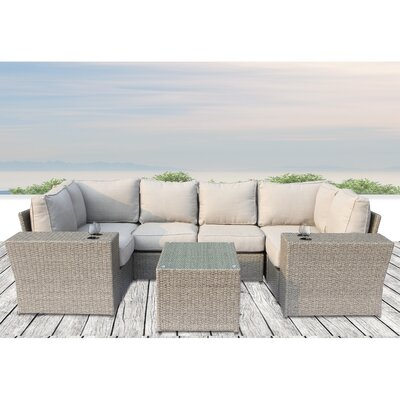 Winsford Cup Table 9 Piece Sectional Set with Cushions