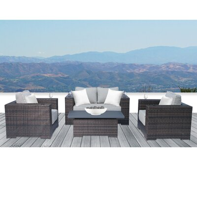 Cecile 4 Piece Sofa Set