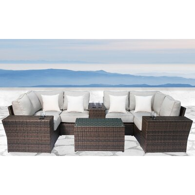 Simmerman 10 Piece Conversation Set with Cushions