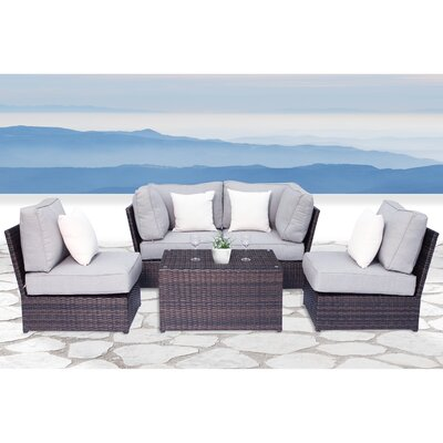Simmerman 5 Piece Conversation Set with Cushions