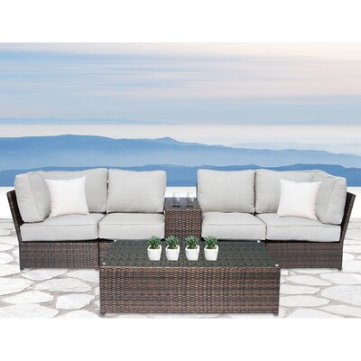 Simmerman Cup Table 6 Piece Sofa Set with Cushions