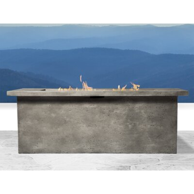 Furniture-SunHaven Bello Cast Internal Tank Glass Reinforced Concrete Propane Fire Pit Table