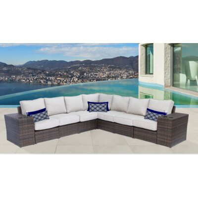 Lucca 9 Piece Sectional Seating Group with Cushion CM-4245