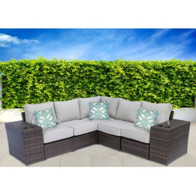 Lucca 7 Piece Sectional Seating Group with Cushion CM-4246