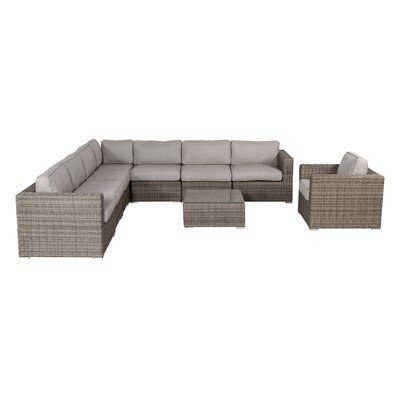 Vardin 9 Piece Sectional Set with Cushions